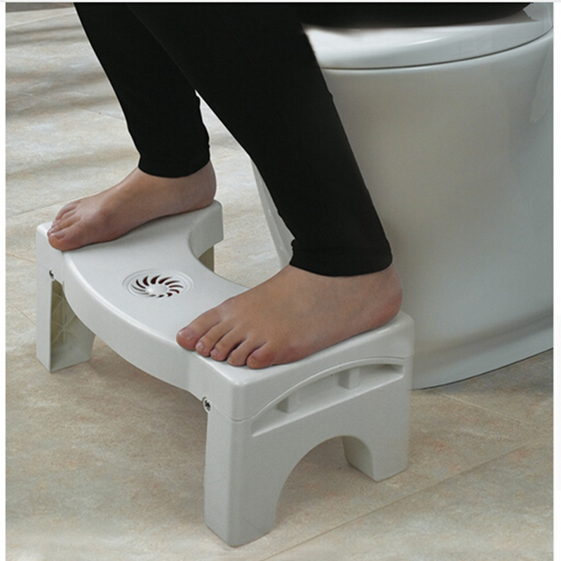U-Shaped Squat Toilet Stool Non-Slip Toilet Foot Stool Folding Elderly Child Toilet Chair Bathroom Assistant Foot Rest Pad