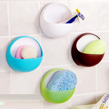 New Qualified Dropship Plastic Suction Cup Soap Toothbrush Box Dish Holder Bathroom Shower Accessory