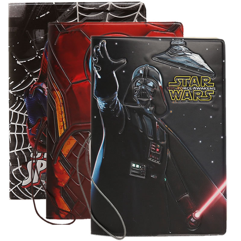 Travel Accessories Cartoon Star Wars Passport Cover Wallets Bag Travel ID Address Holder Portable PU Leather Men Women Card Case