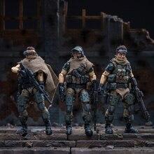 JOYTOY 1/18 action figure soldados (3 pçs/lote) FEDERAÇÃO RUSSA CÁUCASO modelo boneca Frete grátis