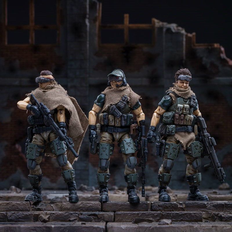 JOYTOY 1//18 Scale Russian Camouflage Team 3 Solider Collectible Figure Set Model