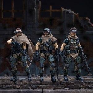 Image 1 - JOYTOY 1/18 figurka żołnierzy (3 sztuk/partia) federacja rosyjska kaukaz model doll darmowa wysyłka