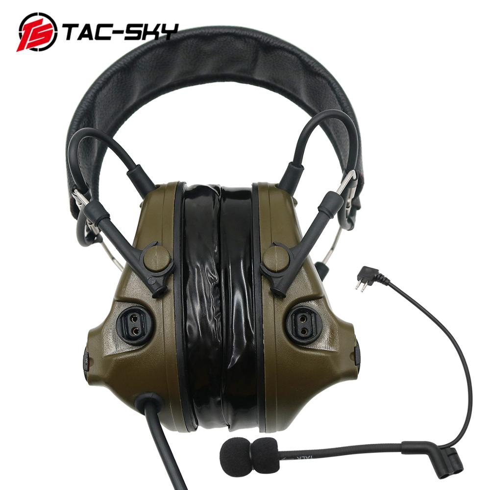 Image 3 - TAC SKY military adapter KENWOOD U94 PTT + COMTAC III silicone earmuffs noise reduction pickup tactical headset FG-in Intercom Accessories from Security & Protection
