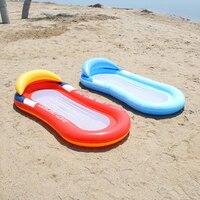 Einreihige Aufblasbare Strand Air Sommer Schatten Aufblasbare Matratze Wasser Schwimm Schlaf Bett Wasser Liege Wasser Schwimm Reihe Spielzeug