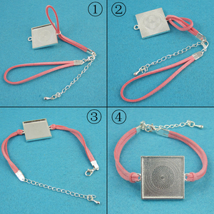 Image 2 - 100   6 זמש צמיד קישור, מעוור צמיד מחבר, צבעוני קישור צמיד, בעבודת יד כבל צמיד קישור + הארכת