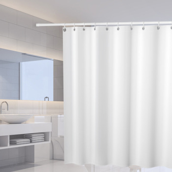 White Shower curtains Solid Color Polyester Fabric Thicken Waterproof Mildewproof Bath Curtain Bathroom Screen Partition Curtain sunflower butterfly print fabric rustic wood shower curtain set yellow flower waterproof mildewproof bathroom shower curtains