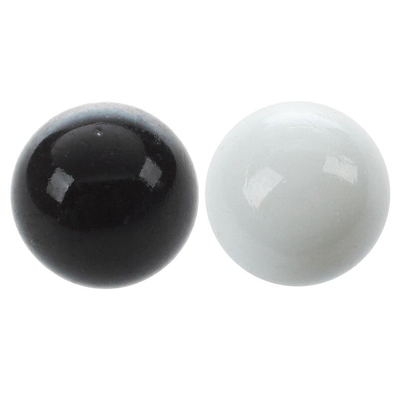 20 Pcs Marbles 16mm Glass Marbles Knicker Glass Balls Decoration Color Nuggets Toy, 10 Pcs Black & 10 Pcs White