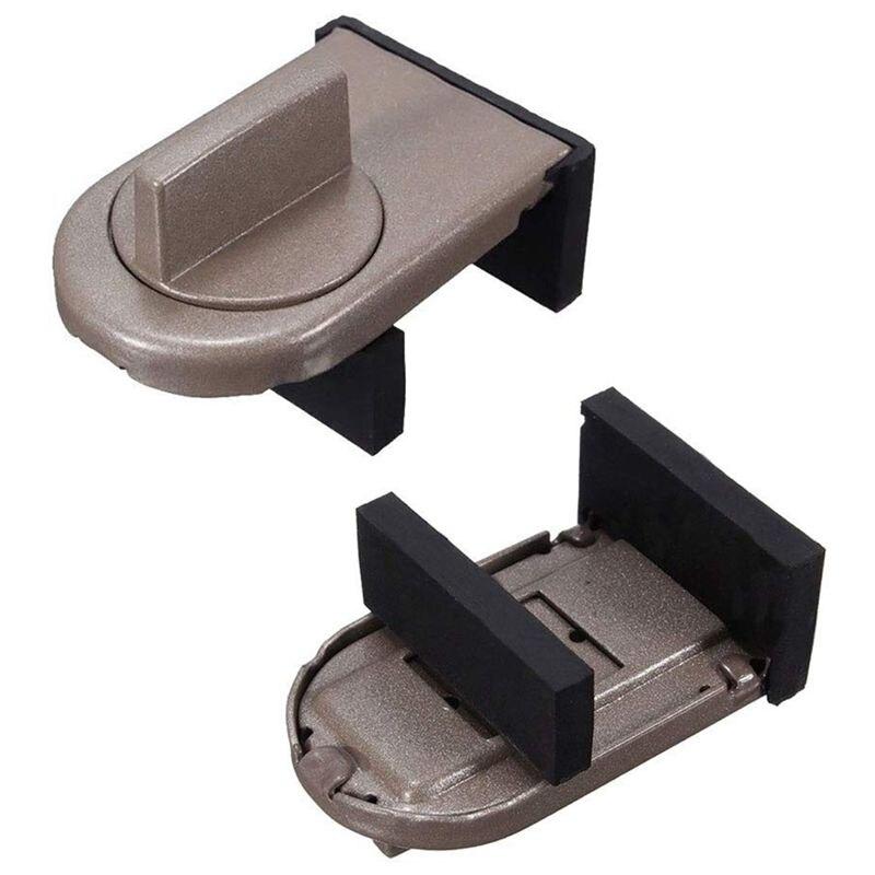 FBIL-2 Pcs Sliding Window Frame Stopper Cabinet Lock Belt Door Anti-Theft Lock Window Sliding Door Baby Child Child Protection L
