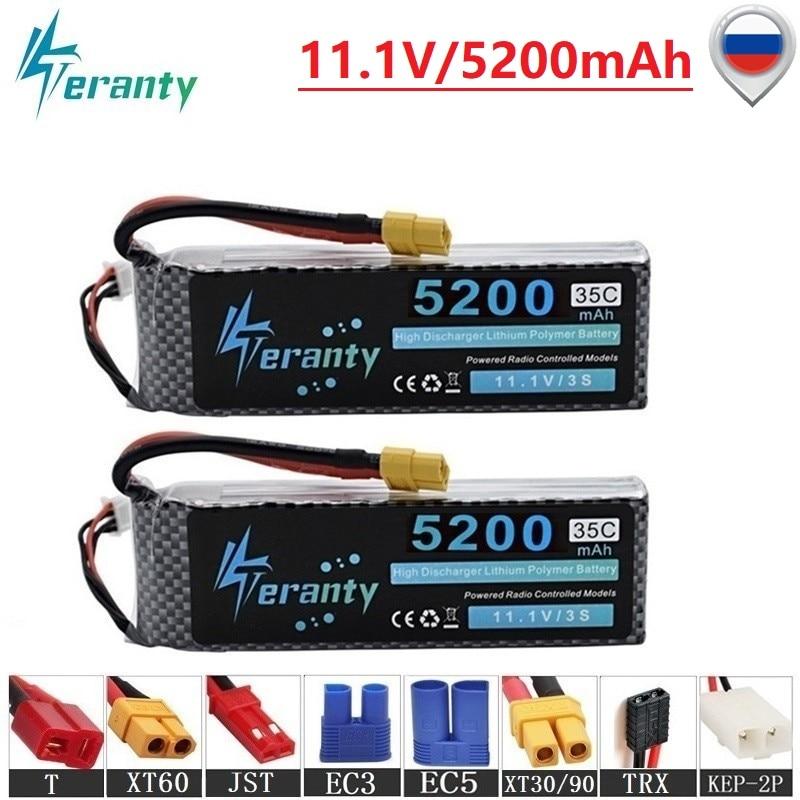Batería Lipo de alta potencia 3s 11,1 V 5200mAh para RC coche Robot aviones partes de helicóptero 11,1 v batería de litio RC Drone Batería 2 uds GTFDR 2 uds batería lipo 2S 3S 7,4 V 10000mah 8400 9300mah 110C 220C 130C 260C 60C 120C HV 3S 11,4 mah 5200 V 20C para QRX350 RC Coche