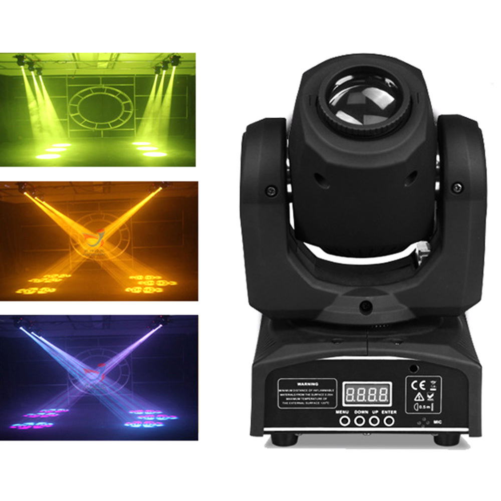 50W Lamp Moving Head Beam Stage Profile Spot Fixture Gobo Prism Frost Lighting Effect Professional Lights For Club DJ Wedding
