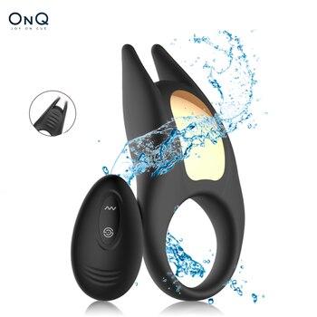 Cock Ring Männlichen Wireless Fernbedienung Vibrieren Penis Cockring Vibrator Klitoris Stimulieren Verzögerung Ejakulation Sex Spielzeug für Männer 1