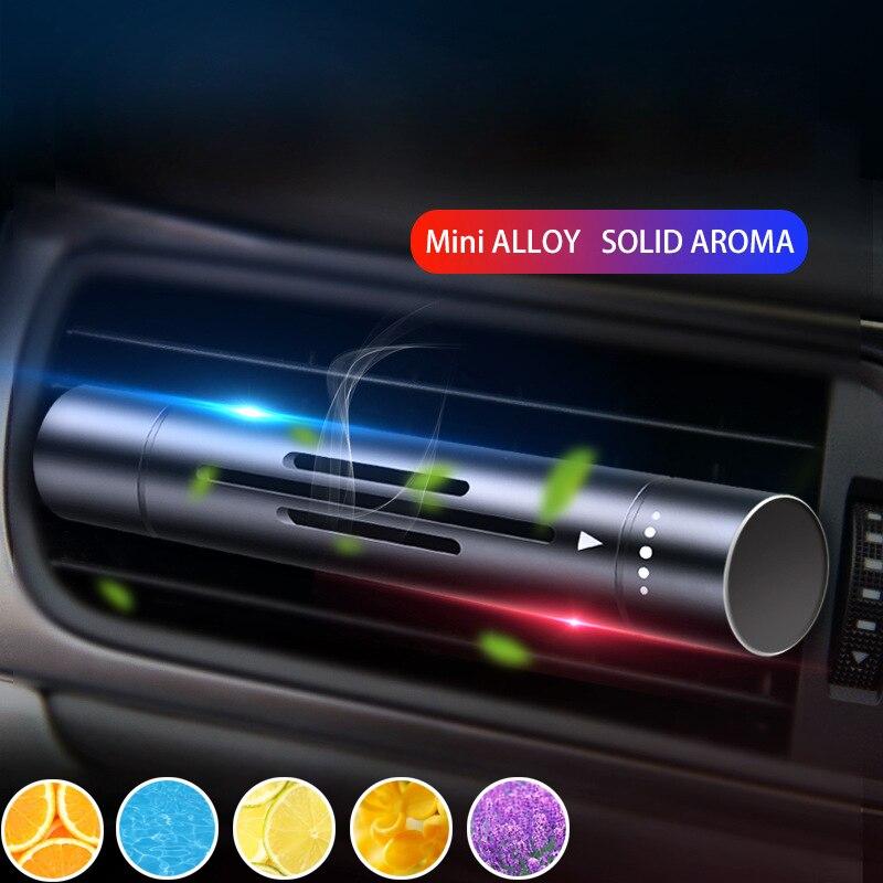 5pcs רכב מטהר אוויר מטהר מוצק בושם רכב סטיילינג מוצק מפזר מקל החלפת ליבות מיזוג אוויר Vent Perfum