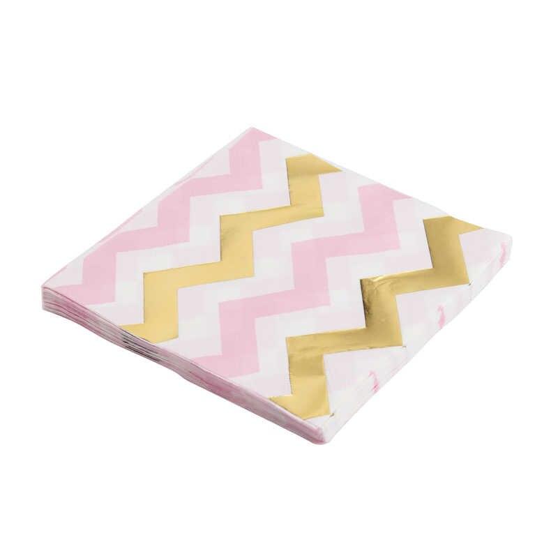 1 paquet/ensemble Rose or Dot papier serviette fête 100% vierge bois papier serviette pour mariage bébé anniversaire décoration de la maison fournitures