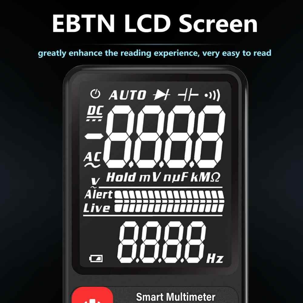 """Multímetro Digital de voltaje mejorado BSIDE 3,5 """"EBTN LCD 3-expositor con líneas TRMS Ohm Hz con barra analógica y 5 LED indicador DMM"""