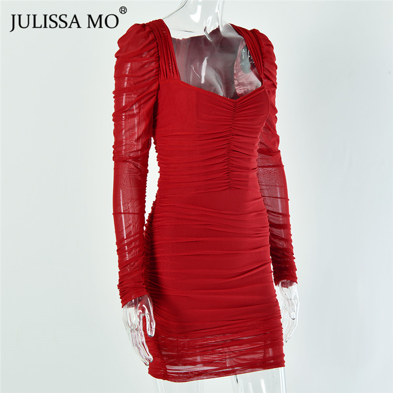 JULISSA MO mesh bodycon dress 2020 spring party dress (12)