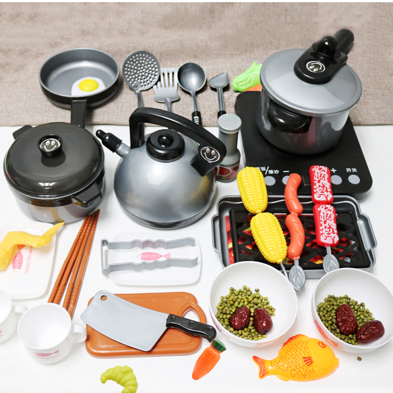 Children Kitchen Toys Miniature Set Pretend Play Simulation Food Cookware Pot Pan Cooking Play House Utensils Toy Kids Gift