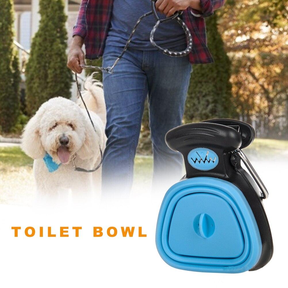 Pooper Scooper Poop Scoop Foldable Clean Waste Picker + 6rolls Poop Biodegradable Bags Pet Dog Trash Cleaning Supplies