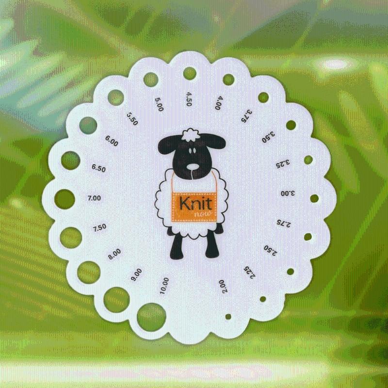 Round Size 2mm -10mm Knitting Knit Needle Sizer Gauge Measure Ruler Tool