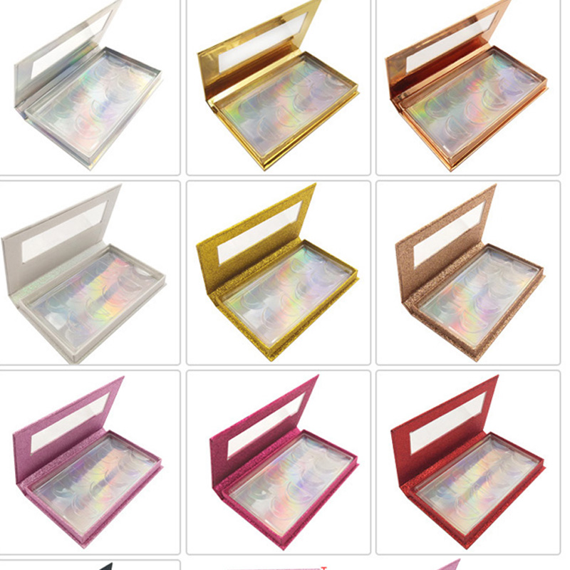 Packaging-Box Strip-Case Mink-Eyelashes-Boxes Square Faux-Cils Empty False-Eyelash Fake