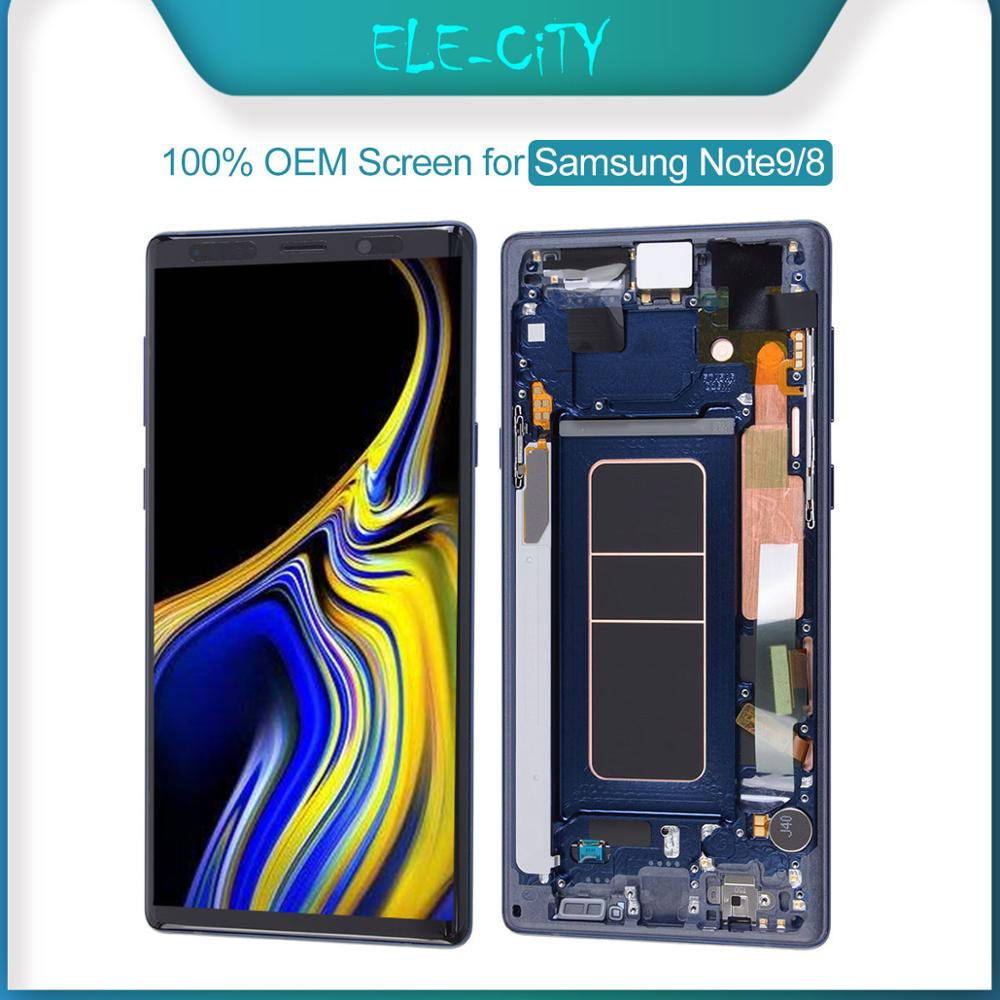 100% Ori For SAMSUNG Galaxy Note 8 9 Super AMOLED OLED Display LCD Touch Screen Display Digitizer Assembly Replacement New OEMMobile Phone LCD Screens   -