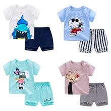pyjamas kids cotton toddler cartoon children pajamas sets fo