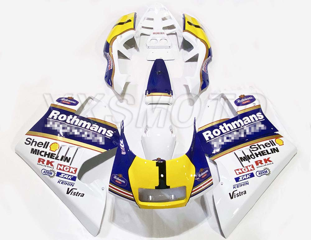 Brand New ABS Mechanical Injection Fairing Kit For Honda NSR250 P3P4 White Blue Yellow Bodywork Fairings Nsr 250 Fuel Tank Cover