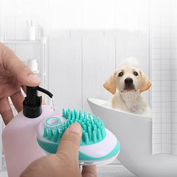 Silikonowe zwierzę do kąpania psa szczotka grzebień Pet SPA szczotka do masażu psy koty pod prysznic do włosów Grooming Cmob zwierząt żwirek dla psa Box produkty dla zwierzaka domowego tanie i dobre opinie Skrzynki na śmieci CN (pochodzenie) Pet Bath Massage Brush Pet Comb shower massage For Dog Cat Hair Comb Bath Cleaning