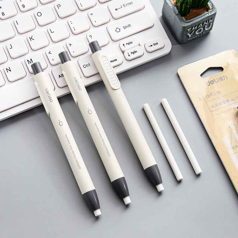 1Set Retractable Press Pen Artist Drawing Sketch Eraser School Supplies Stationery
