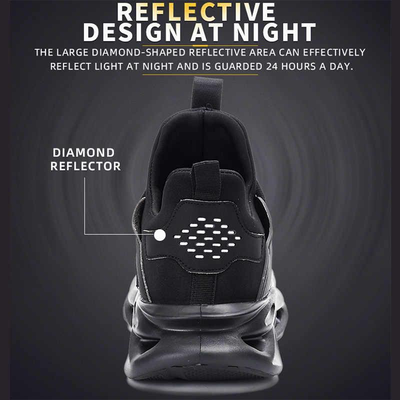 Dropshippingเหล็กหมวกความปลอดภัยรองเท้าทำงานรองเท้าผ้าใบรองเท้าผู้หญิงPLUSขนาด 36-48 Breathableกลางแจ้งROXDIAยี่ห้อRXM164