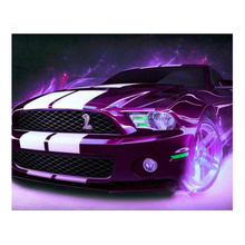Purple sports car5D Diy Diamond Painting  Embroidery Picture Full Square Round Diamond Cross Stitch Rhinestone Mosaic Home Decor diy diamond painting full embroidery mosaic daisy butterfly square round picture of rhinestone cross stitch decor home sticker