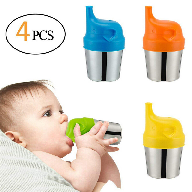 Baby Healthy Sprouts Reuseable Silicone Stretchable Leakproof Sippy Lids Safety Make Bottle Feeding Water Leakage Prevention Hot