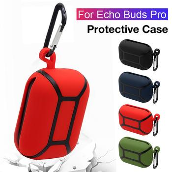 Wireless Bluetooth Headset Silicone Case For Echo Buds Pro Real Silicone Protective Case Waterproof Dirty Cover Headset Accesso image