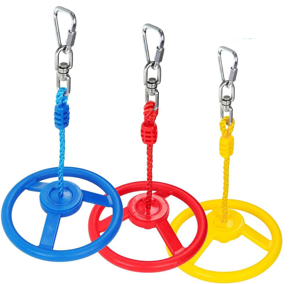 Jungle Gyms Monkey Wheel for Ninja Warrior Obstacle Course Ninja Line Slacking Line - 1PC Color Swing Wheel in Set