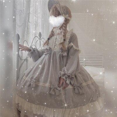 Femme Lolita Gothique Victorien Robe Dentelle Épaule Tombante Steampunk Soirée