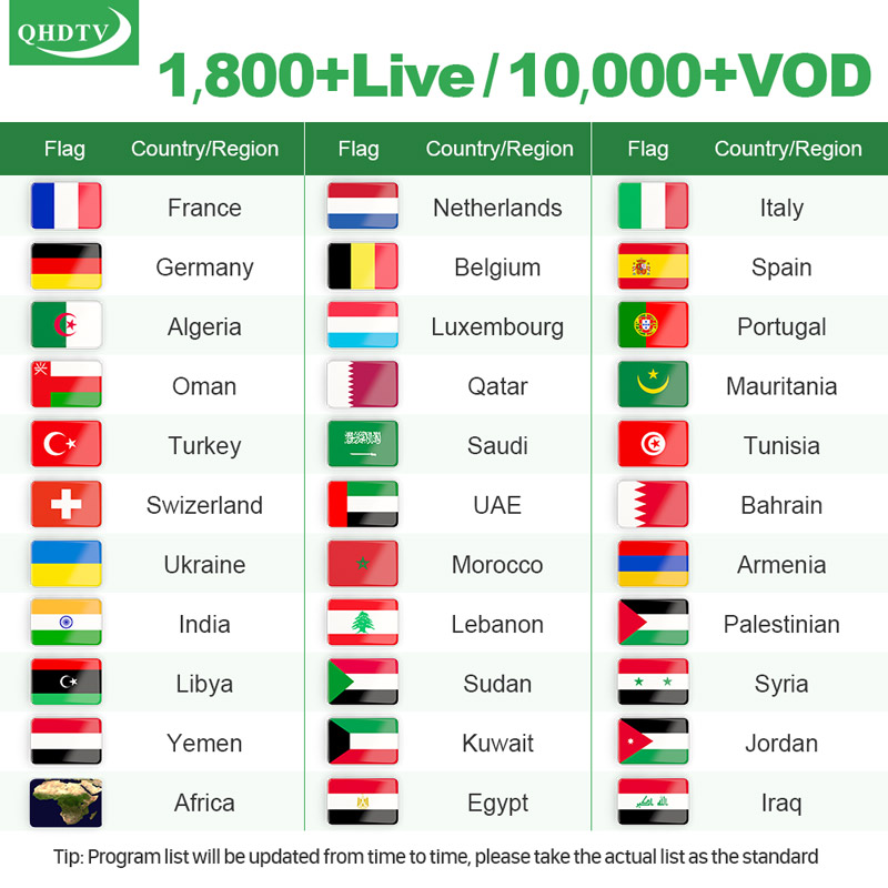 Leadcool S2 IP TV Box 1 Year QHDTV Arabic French IPTV Code FULL HD 4K TV Box Android 8.1 Europe Italy Spanish IPTV Subscription (2)