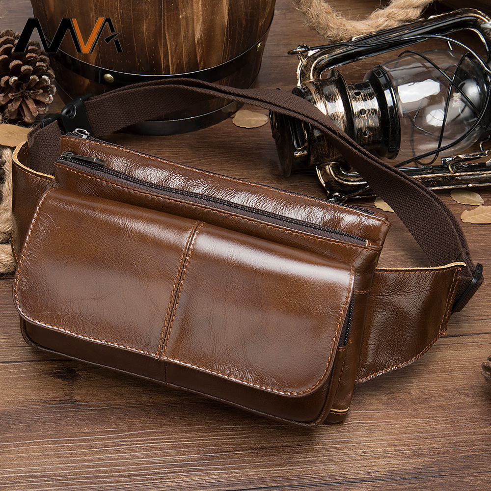 Genuine Leather Retro Ultra-Soft Leather Men Wallet Cross Multi-functional Phone Coin Purse Oil Wax Leather Customizable Chest P