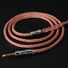 NICEHCK Cable de cobre de alta pureza, 16 núcleos, C16 3, 3,5/2,5/4,4mm, MMCX/2 pines/QDC/NX7, conector para KZCCATRN TFZ QDC DB3 NX7 Pro DB 03