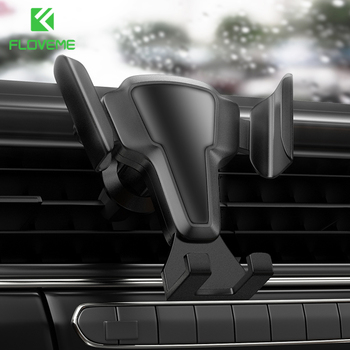 FLOVEME Phone Holder Auto Lock Car Phone Holder Air Vent Clip Mount Stand No Magnetic Gravity Mobile Phone Stand Support  In Car universal phone holder for phone in car air vent mount stand no magnetic mobile car phone holder gravity smartphone cell support
