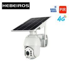 Hebeiros 4 3gのsimカードwifi太陽電池ptzカメラ1080屋外防水pirアラームモーション検出P2P cctvカメラ