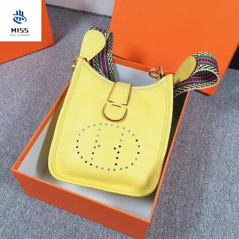 2019 new women's bag Luxury design handbags TOGO original lychee pattern shoulder messenger bag  Leather handbag