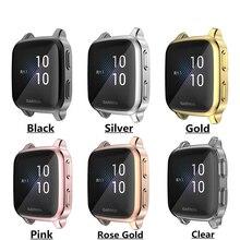 TPU miękkie szkło ekranu LCD futerał ochronny Smartwatch Shell Edge Frame dla Garmin Venu SQ zegarek zderzak ochronny obudowa ochronna