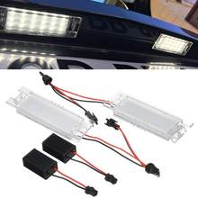 LED Car License Plate Lights Lamp Assembly Car Light Accessories For Alfa Romeo 147 156 159 166 Giulietta Mito GT Spider MiTo(China)