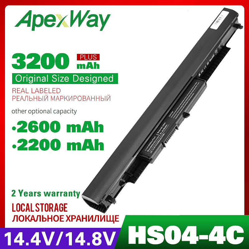14.4v Laptop Battery For HP Pavilion 14-ac0XX 15-ac0XX HS04 HS03 HSTNN-LB6V HSTNN-LB6U 255 245 250 G4 240  807611-831 Hstnn Lb6v
