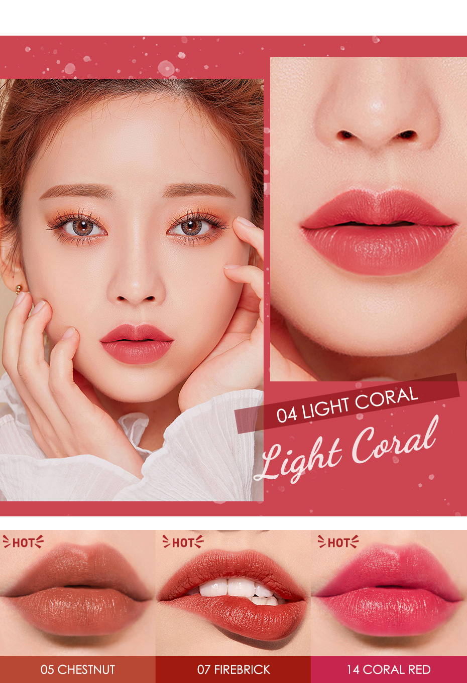 FOCALLURE Matte Lipstick Cosmetic Waterproof Long Lasting Pigmented Tint Sexy Red Velvet Lips Professional Makeup for Women