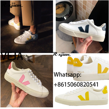 VEJA Sneakers klasyczne białe buty męskie buty VEJA skórzane białe buty damskie buty VEJA para obuwie sportowe białe buty do chodzenia tanie i dobre opinie R xjian Unisex CN (pochodzenie) RUBBER Sznurowane Dobrze pasuje do rozmiaru wybierz swój normalny rozmiar Spring2019 LEISURE