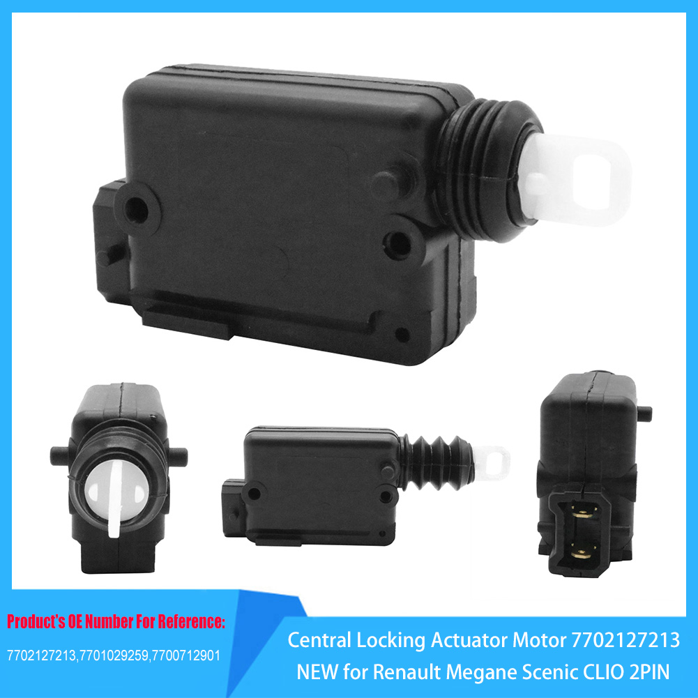 Auto Products Central Locking Actuator Motor 7702127213 NEW For Renault Megane Scenic CLIO 2PIN Door Lock Actuator Blocker