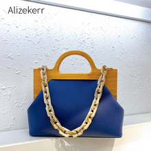 Wooden Clip Shoulder Bag Women 2020 New Korean Acrylic Chain