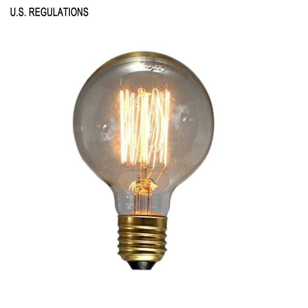G95 Vintage Retro Edison Bulbs Spiral Light Handmade Glass Industrial Style Tungsten Bulb Pendant Lamps Lighting