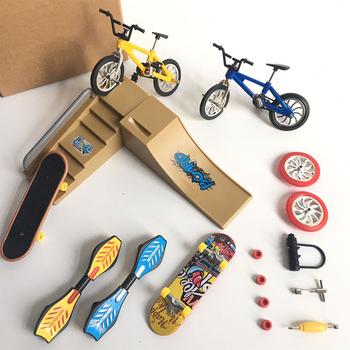 Gorąca sprzedaż minirower Mini hulajnoga fingerboard Skating Board Site dzieci edukacyjne zabawki Mini rower na palec modele na prezent dla chłopców dziewczyna tanie i dobre opinie Z tworzywa sztucznego CN (pochodzenie) Mini Scooter Finger deskorolki