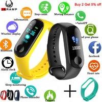 Fitness M3 Color pantalla inteligente deporte pulsera de actividad rastreador de Running corazón de los niños para hombres y mujeres reloj para IOS Android M4